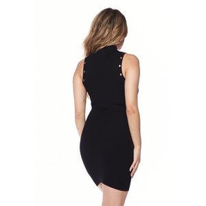 Dresses - Womens Black Ribbed Knit Bodycon Mini Dress